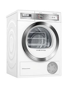 Bosch Serie 8 WTYH6791GB 9kg Self-Cleaning Condenser™ Tumble Dryer with Heat Pump Technology - White