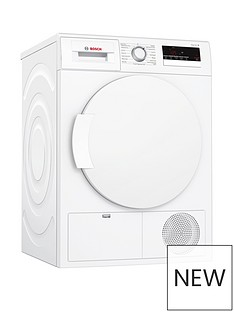 Bosch WTN83200GB 8kg Condenser Sensor Tumble Dryer - White Best Price, Cheapest Prices