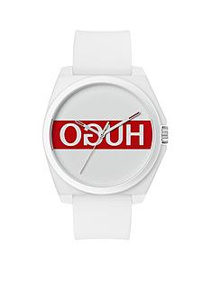 hugo-hugo-play-white-and-red-3-hand-logo-dial-with-white-rubber-strap-mens-watch