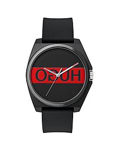 hugo-hugo-play-black-and-red-3-hand-logo-dial-with-black-rubber-strap-mens-watch