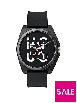 hugo-hugo-play-black-and-white-3-hand-logo-dial-with-black-rubber-strap-mens-watch