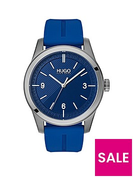 hugo-hugo-create-blue-3-hand-dial-with-blue-rubber-strap-mens-watch