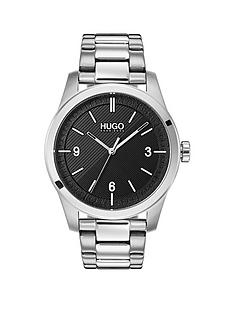 hugo-hugo-create-black-3-hand-dial-with-stainless-steel-bracelt-mens-watch