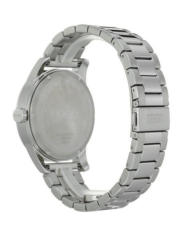 HUGO Create Black 3-Hand Dial Analogue Mens Watch with Stainless Steel  Bracelet 35730b0aa18