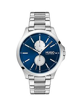 hugo-jump-bluemulti-dial-with-stainless-steel-bracelet-strap-mens-watch