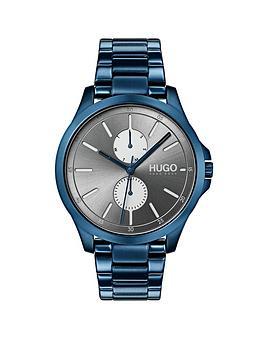 hugo-jump-grey-multi-dial-with-blue-ip-stainless-steel-bracelet-strap-mens-watch