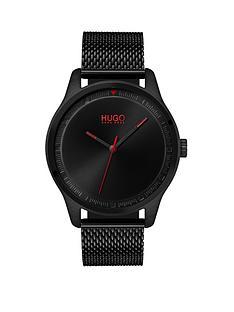 hugo-hugo-move-black-3-hand-dial-with-black-ip-mesh-bracelet-mens-watch