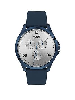 hugo-hugo-risk-silver-multi-dial-with-blue-rubber-strap-mens-watch