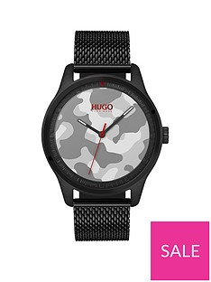 hugo-hugo-move-grey-camo-3-hand-dial-with-black-ip-mesh-bracelet-mens-watch