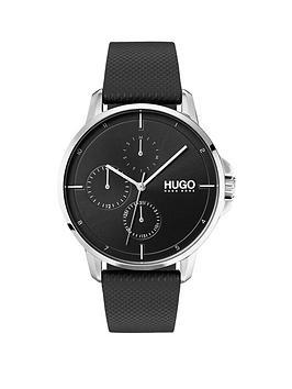 hugo-hugo-focus-black-multi-dial-with-black-leather-strap-mens-watch