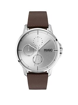 hugo-hugo-focus-silver-multi-dial-with-brown-leather-strap-mens-watch