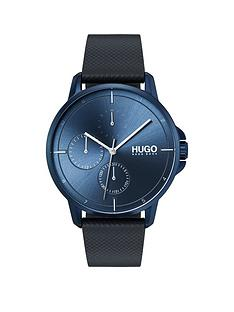 hugo-hugo-focus-blue-multi-dial-with-blue-leather-strap-mens-watch