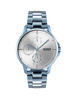 hugo-hugo-focus-silver-multi-dial-with-blue-ip-bracelet-mens-watch