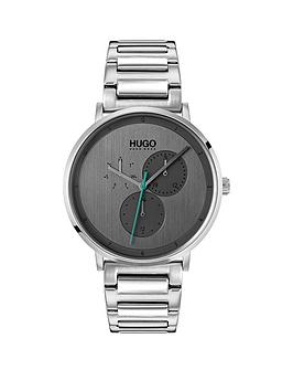 Hugo Guide Grey Dial Mens Watch With Stainless Steel Bracelet Strap thumbnail