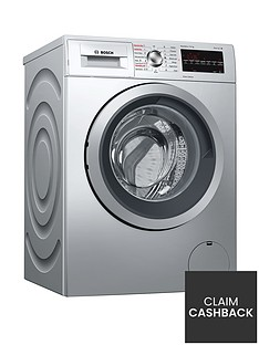 Bosch Serie 6 WVG3047SGB 7kg Wash, 4kg Dry, 1500 Spin Washer Dryer with VarioPerfect™ Technology - Silver