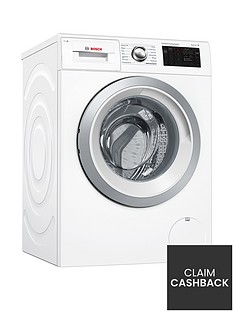 Bosch Serie 6 WAT286H0GB 9kg Load, 1400 Spin i-Dos Home Connect Washing Machine - White