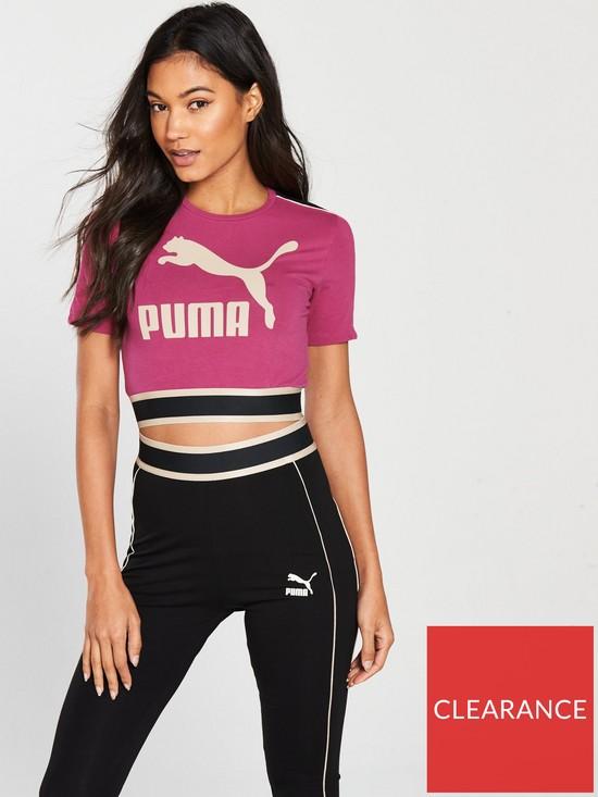 db80b274d2bb Puma Revolt Crop Tee - Pink