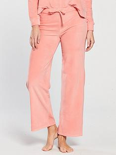 v-by-very-jolene-wide-leg-velour-lounge-pant-coral