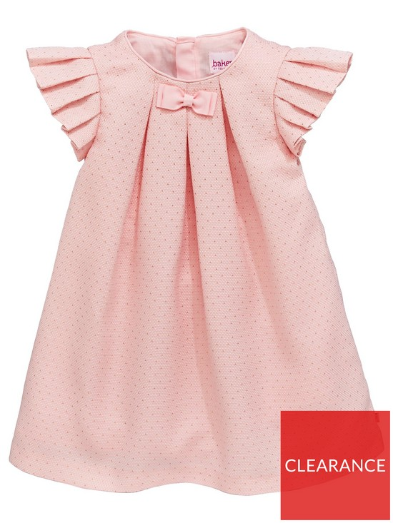 cff2d8d19 Baker by Ted Baker Baby Girls Lurex Otto Pleat Sleeve Dress - Light Pink
