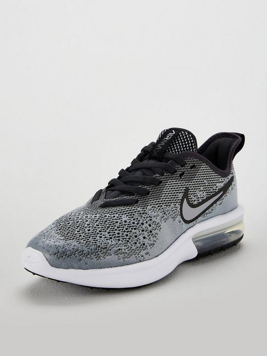 16f5547c71d8e Nike Air Max Sequent 4 Junior Trainer - Grey