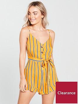 miss-selfridge-miss-selfridge-petite-yellow-stripe-playsuit