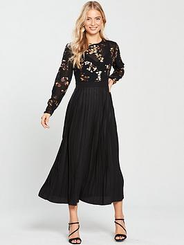 little-mistress-foil-print-midi-dress-black