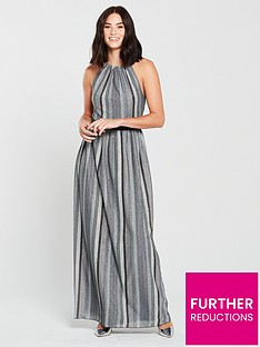 little-mistress-racer-neck-metallic-stripe-maxi-dress-slatenbsp