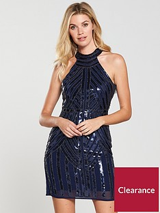little-mistress-racer-neck-sequin-mini-dress-blue