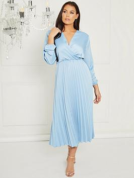 sistaglam-loves-jessica-woven-pleated-wrap-midi-dress-blue