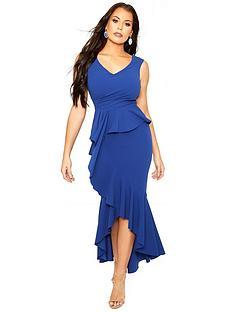 sistaglam-loves-jessica-sistaglam-loves-jessica-bodcon-frill-front-dip-hem-dress