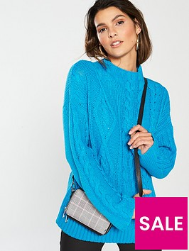 v-by-very-wide-sleeve-cable-jumper-azure-blue