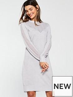 v-by-very-mesh-panel-detail-knitted-dress-grey-marlnbsp