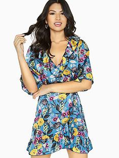 girls-on-film-floral-wrap-dress-printed