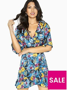 girls-on-film-floral-wrap-dress-printed