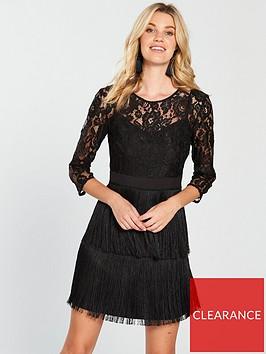 little-mistress-lace-amp-fringe-detail-mini-dress-blacknbsp
