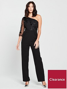 little-mistress-sequin-amp-mesh-one-shoulder-jumpsuit-blacknbsp