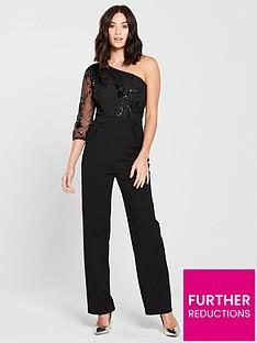 little-mistress-sequin-amp-mesh-one-shoulder-jumpsuit-blacknbsp