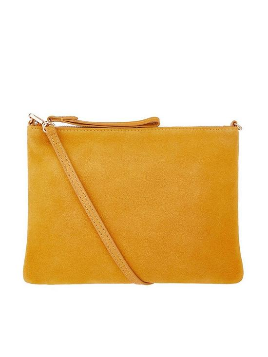 Accessorize Claudia Leather Crossbody Bag - Ochre  771363806596