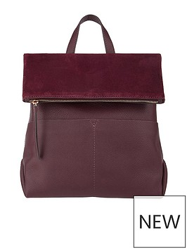 accessorize-lydia-leather-backpack-burgundy