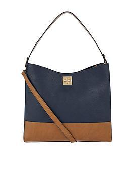 Accessorize Stewart Shoulder Bag - Navy