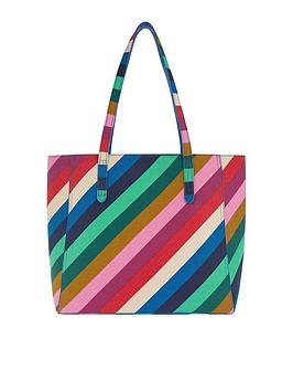 Accessorize Reversible Rainbow Tote Bag - Multi