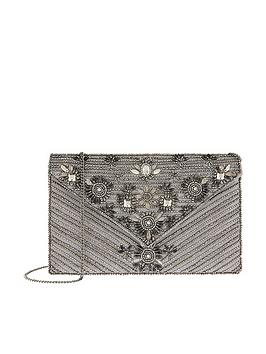 Accessorize Accessorize Mia Embellished Envelope Clutch Bag