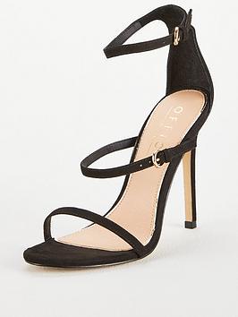 Office Hush 3 Strap Sandal Heeled Sandal