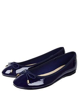 accessorize-coralie-basic-patent-ballerina-navy