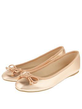Accessorize Coralie Basic Metallic Ballerina - Rose Gold