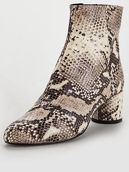 office-around-snake-print-ankle-boot