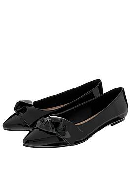 accessorize-katie-patent-point-flats-black