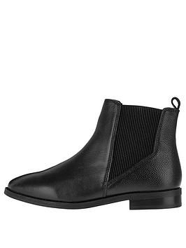 Accessorize Chelsea Leather Ankle Boot - Black