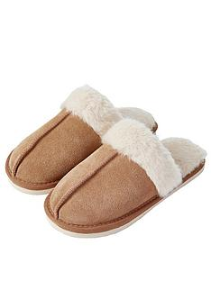 accessorize-suede-fauxnbspfur-mule-slippers-brown