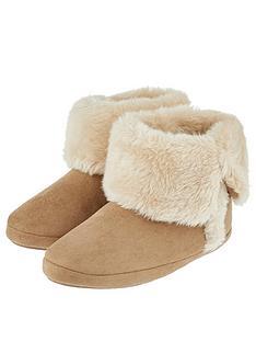accessorize-suedette-slipper-boots-brown
